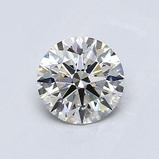 0,73-Carat Round Diamond Ideal H VS1