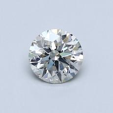 0.52 Carat Redondo Diamond Ideal I SI2