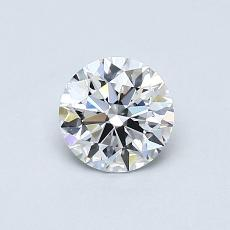 0,50-Carat Round Diamond Ideal D IF