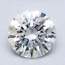 2,01 Carat Rond Diamond Idéale F VS1