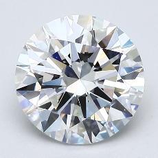 2,01 Carat Rond Diamond Idéale F VVS2