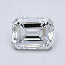 1.29-Carat Emerald Diamond Very Good D VS1