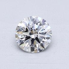 0.76-Carat Round Diamond Ideal D VVS1