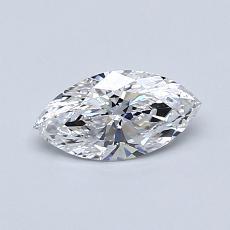 0.50-Carat Marquise Diamond Very Good D VVS1