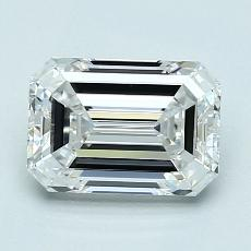 1.52-Carat Emerald Diamond Very Good D VVS2