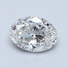 推荐宝石 1:1.20克拉椭圆形切割钻石