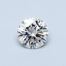 推荐宝石 1:0.50克拉圆形切割钻石