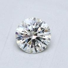 0,70-Carat Round Diamond Ideal H SI1