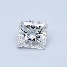 0,51 Carat Princesse Diamond Très bonne F VVS2