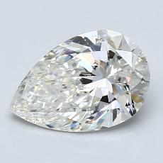 1.50-Carat Pear Diamond Very Good I SI1