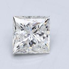 推荐宝石 2:1.01 克拉公主方形钻石