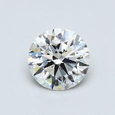 0,75-Carat Round Diamond Ideal G VS1