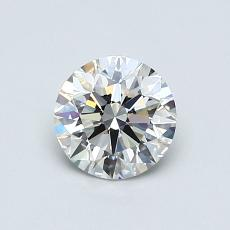 0.73-Carat Round Diamond Ideal H VVS1