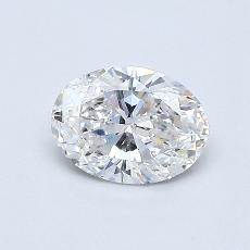 0.50-Carat Oval Diamond Very Good F VS1