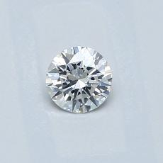 0,30-Carat Round Diamond Ideal E SI1