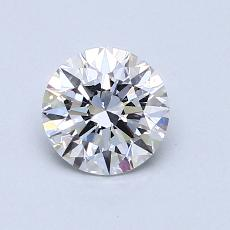 0.75-Carat Round Diamond Ideal D SI1