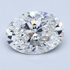 1,54 Carat Ovale Diamond Très bonne E VS2