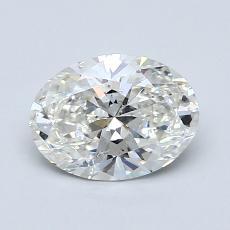1.01 Carat 椭圆形 Diamond 非常好 H SI1