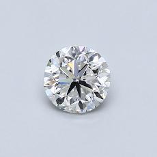0.50-Carat Round Diamond Good E VS2