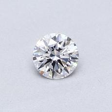 0,30 Carat Rond Diamond Idéale D VVS2