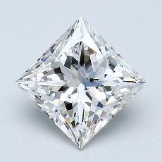 Pierre recommandée n°2: Diamant taille princesse 1,74 carat