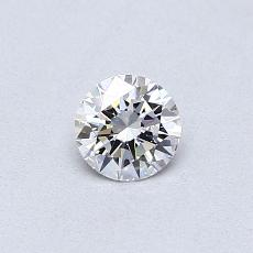0.30-Carat Round Diamond Ideal D VS2