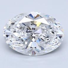 2,07 Carat Ovale Diamond Très bonne D VVS1