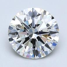 2.01-Carat Round Diamond Ideal I VS2