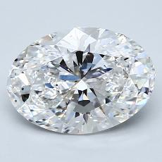 推薦鑽石 #1: 2.51  克拉橢圓形切割