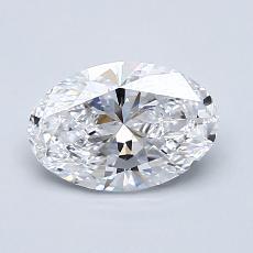 1,01 Carat Ovale Diamond Très bonne D VVS1