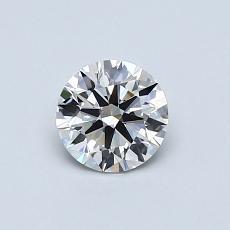 0,51-Carat Round Diamond Ideal I IF