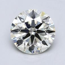 1.08-Carat Round Diamond Ideal K VVS2