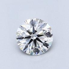 0.76 Carat 圆形 Diamond 理想 G VS1