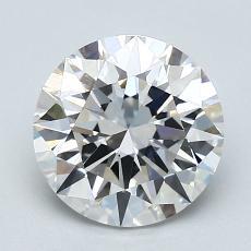 2,02-Carat Round Diamond Ideal D VVS1