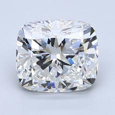 2.01-Carat Cushion Diamond Very Good F VS2