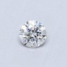 0,30-Carat Round Diamond Good E VS2