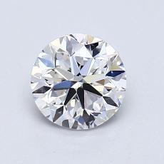 1.01-Carat Round Diamond Very Good E VVS2