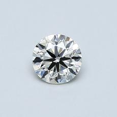 推薦鑽石 #1: 0.40 克拉圓形切割鑽石