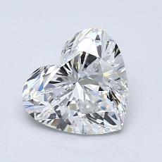 推薦鑽石 #1: 1.05 克拉心形切割鑽石