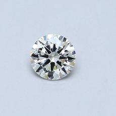 0.30 Carat 圆形 Diamond 理想 K VVS2
