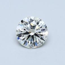 0.53-Carat Round Diamond Ideal G VVS2