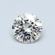 0.80-Carat Round Diamond Ideal K SI1