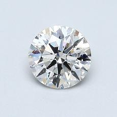0.60-Carat Round Diamond Ideal I VS2