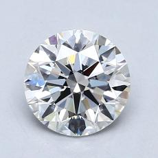 1.02-Carat Round Diamond Ideal E VS1
