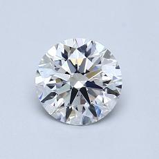 0,80-Carat Round Diamond Ideal D VVS1