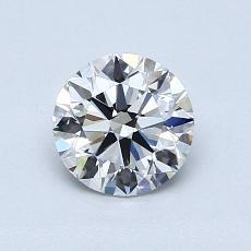0.77 Carat 圓形 Diamond 理想 F IF