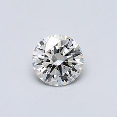 0.40-Carat Round Diamond Ideal I VS2