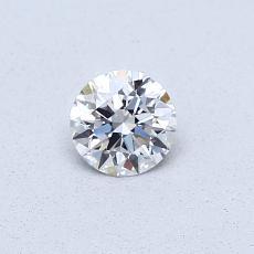 0.31 Carat 圆形 Diamond 理想 D VVS1