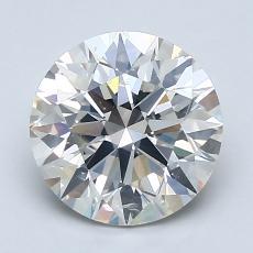 2.05-Carat Round Diamond Ideal J SI2