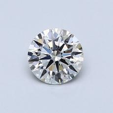 0.61-Carat Round Diamond Ideal I VVS2